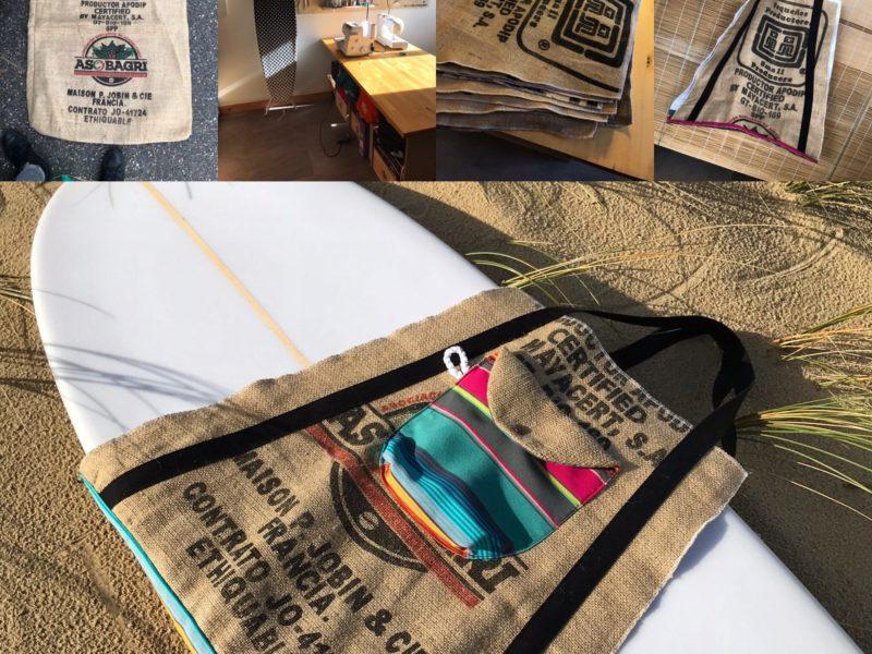 Des sacs à base de toile de jute - emballage de café vert